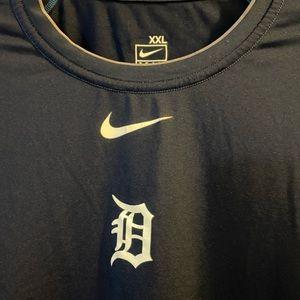 Nike Shirts - Detroit Tigers Nike Dri Fit Tee  Authentic MLB